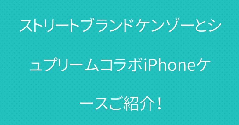 ストリートブランドケンゾーとシュプリームコラボiPhoneケースご紹介!