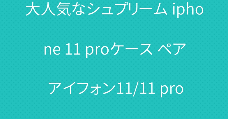 大人気なシュプリーム iphone 11 proケース ペア アイフォン11/11 pro maxケース