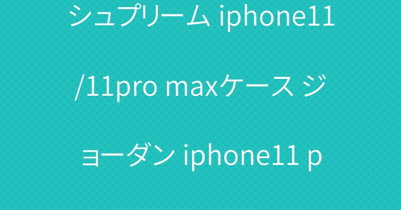 シュプリーム iphone11/11pro maxケース ジョーダン iphone11 proケース 高級コラボ
