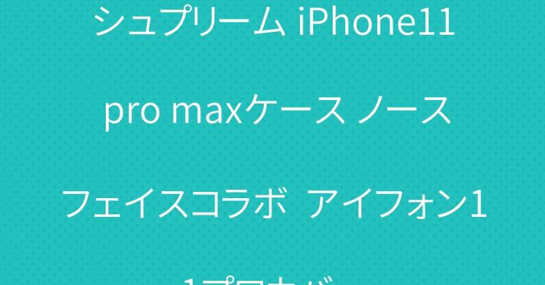 シュプリーム iPhone11 pro maxケース ノースフェイスコラボ  アイフォン11プロカバー