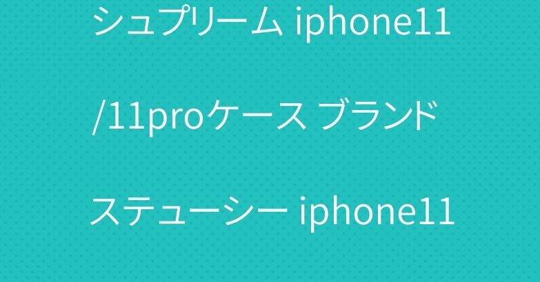シュプリーム iphone11/11proケース ブランド ステューシー iphone11pro maxケース 激安
