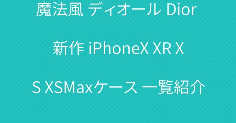 魔法風 ディオール Dior 新作 iPhoneX XR XS XSMaxケース 一覧紹介