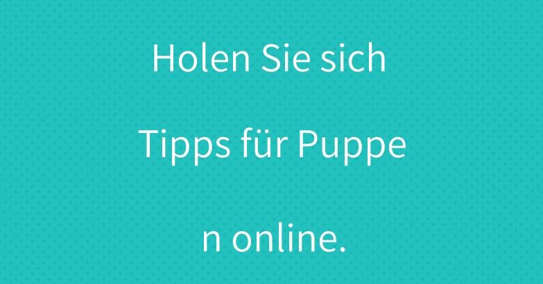 Holen Sie sich Tipps für Puppen online.