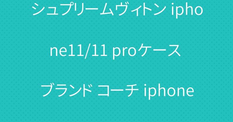 シュプリームヴィトン iphone11/11 proケース ブランド コーチ iphone se2/12プロカバー