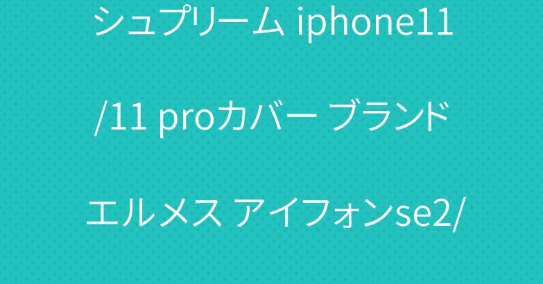 シュプリーム iphone11/11 proカバー ブランド エルメス アイフォンse2/12ケース お洒落
