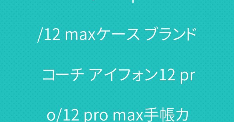 ルイヴィトン iphone11/12 maxケース ブランド コーチ アイフォン12 pro/12 pro max手帳カバー