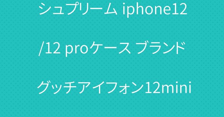 シュプリーム iphone12/12 proケース ブランド グッチアイフォン12mini/12pro maxカバー