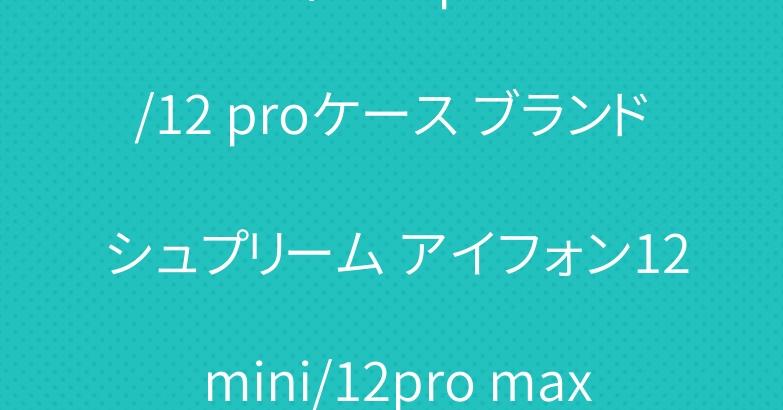 ルイヴィトン iphone12/12 proケース ブランド シュプリーム アイフォン12 mini/12pro maxカバー