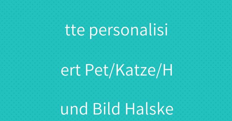 haustier halskette personalisiert Pet/Katze/Hund Bild Halskette armband