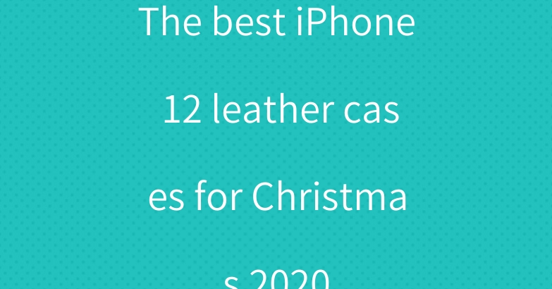 The best iPhone 12 leather cases for Christmas 2020