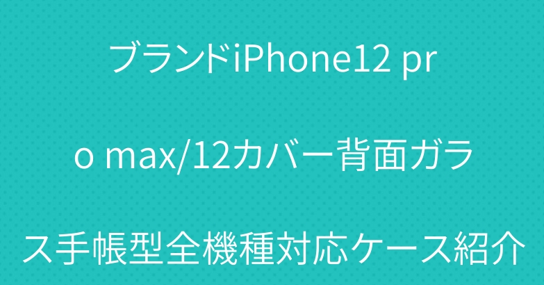 ブランドiPhone12 pro max/12カバー背面ガラス手帳型全機種対応ケース紹介