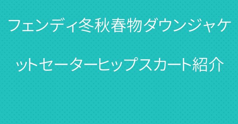 フェンディ冬秋春物ダウンジャケットセーターヒップスカート紹介