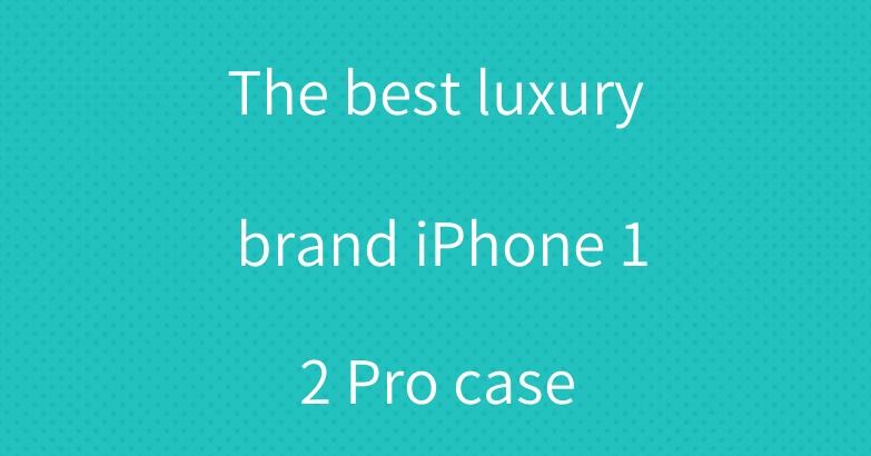 The best luxury brand iPhone 12 Pro case