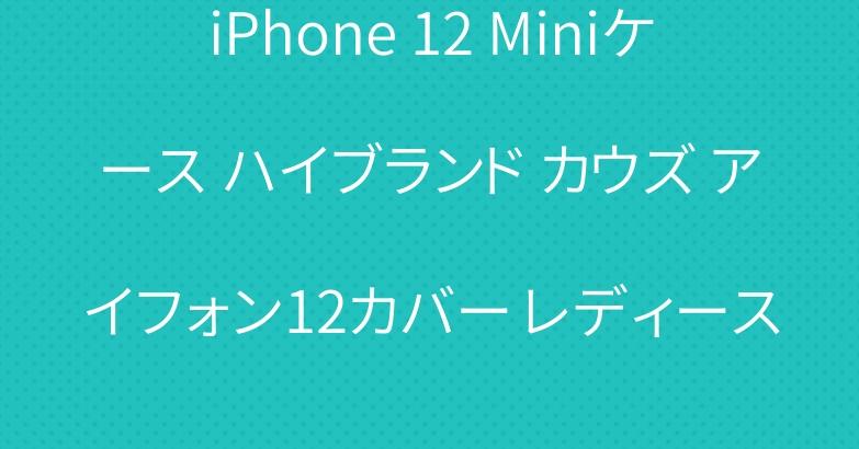iPhone 12 Miniケース ハイブランド カウズ アイフォン12カバー レディース