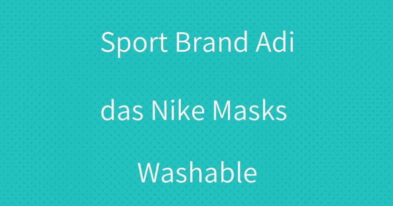 Sport Brand Adidas Nike Masks Washable