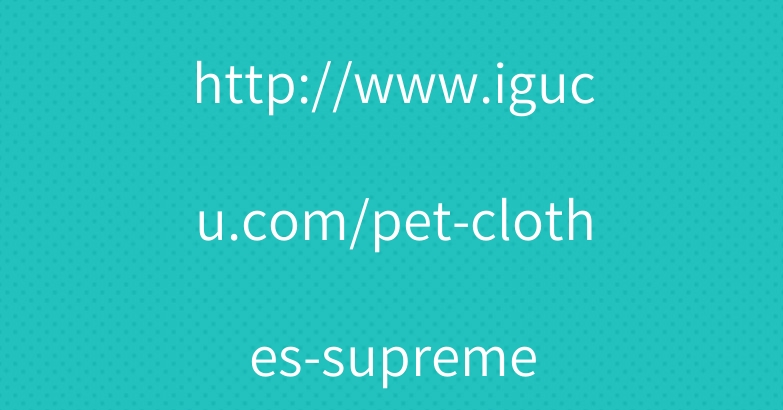 http://www.igucu.com/pet-clothes-supreme