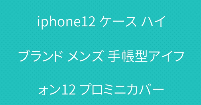 iphone12 ケース ハイブランド メンズ 手帳型アイフォン12 プロミニカバー