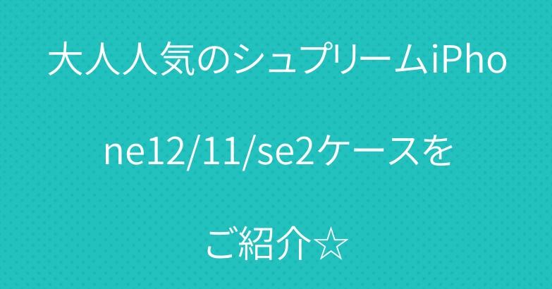 大人人気のシュプリームiPhone12/11/se2ケースをご紹介☆