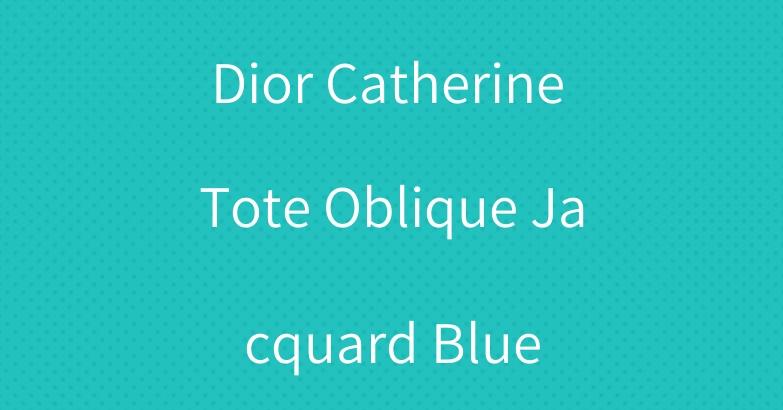 Dior Catherine Tote Oblique Jacquard Blue