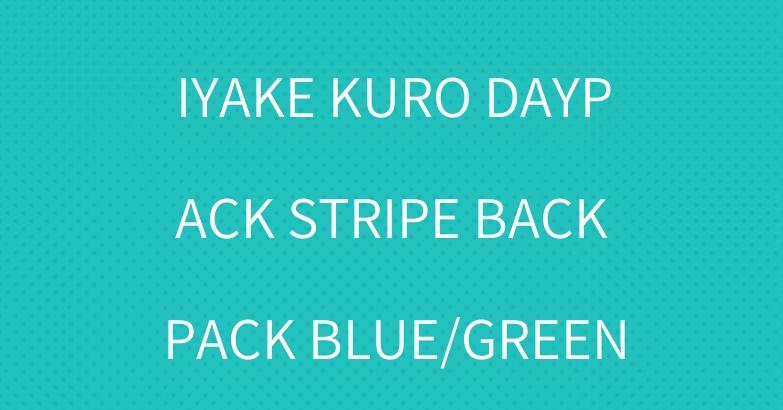 BAO BAO ISSEY MIYAKE KURO DAYPACK STRIPE BACKPACK BLUE/GREEN