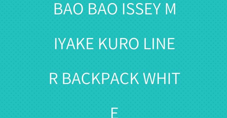 BAO BAO ISSEY MIYAKE KURO LINER BACKPACK WHITE