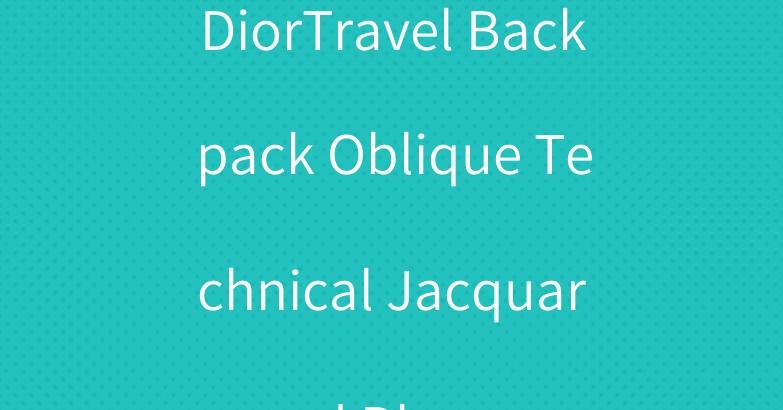 DiorTravel Backpack Oblique Technical Jacquard Blue