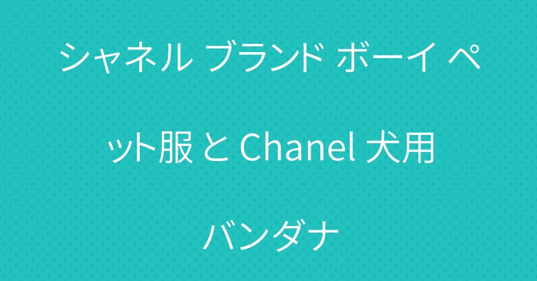 シャネル ブランド ボーイ ペット服 と Chanel 犬用バンダナ